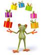 Grenouille et cadeaux