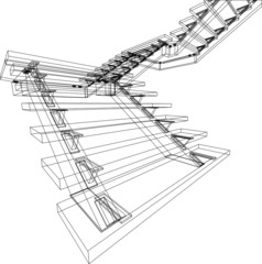 abstract stairs construction
