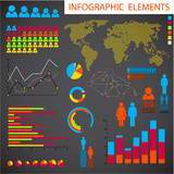 Vector set of Infographic elements poster