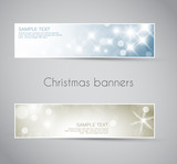 Set of vector christmas / New Year banners