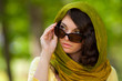 Beautiful woman with sunglasses outdoor