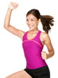 Aerobics zumba fitness woman
