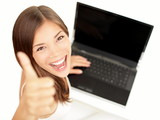 Laptop woman happy - 36844851