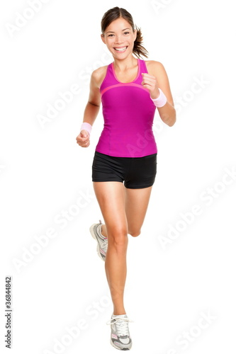 Runner woman isolated