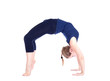 Yoga chakrasana wheel pose