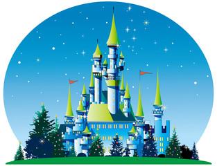クリスマスのお城