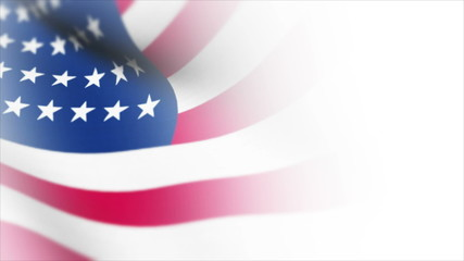 Usa Flag Orginal White texture