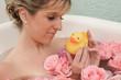 bagno relax papera acqua rose cura corpo