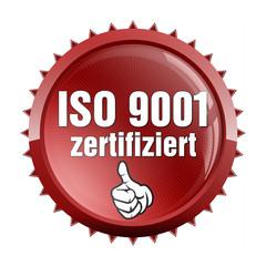 aufkleber iso 9001 zertifiziert daumen hoch oben ok