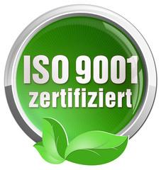 aufkleber iso 9001 zertifiziert grün öko nachhaltig