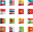 Vector flags. Asia, part 7
