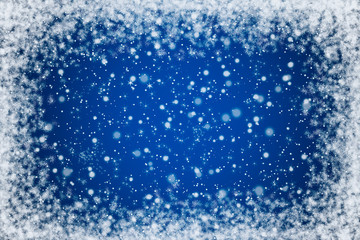Pretty Blue Night Sky with Stars and Snow Background