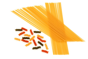 Fusilli and Spaghetti Pasta