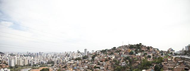 Slum of Brazil. Favela.