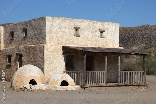 Abandoned house in a Mexican pueblo village
