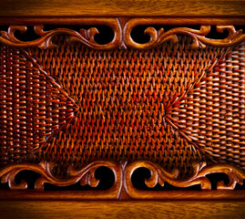 Vintage Carved Wood Background