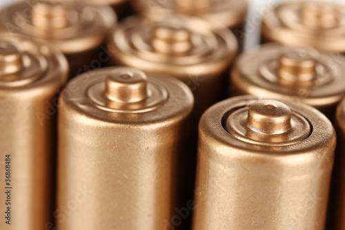 golden batteries closeup