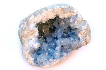 Celestine (or Celestite) geode