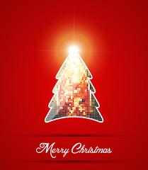 Christmas background. Mosaic Christmas tree.