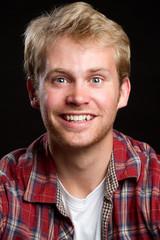 Smiling Blond Man