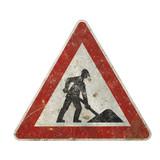 nostalgic construction sign poster