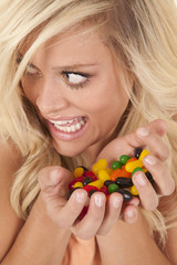 woman caught with candy