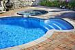 Leinwandbild Motiv Swimming pool with hot tub