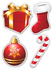 Natale Stickers Christmas-Adesivi Decorazione-2-Vector