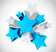 Abstract background with blue and gray star