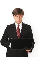 konzentrierter Geschäftsmann