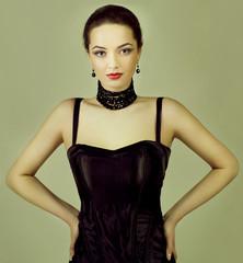 Fashion photo of young  woman