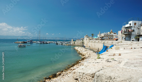 Old Akko panorama view,Israel
