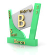 Boron form Periodic Table of Elements - V2