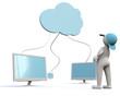 3D Man cloud computing