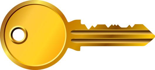 goldener Sicherheitsschlüssel, golden security key