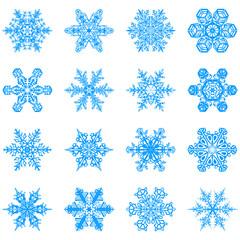 schneeflocken, eisblume, schneekristall, schnee, kristall