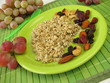 Frischkornmüsli mit Nüssen und Trockenfrüchten