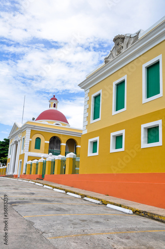 Colorful architecture in Old San Juan, Puerto Rico