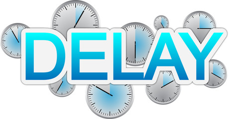 Delay text banner