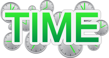 Time text banner
