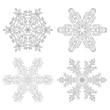 Schneeflocken, Schneekristalle, Eisblume, Schnee