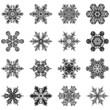 Schneekristalle, Eiskristalle, Schnee, Frost, Eisblume