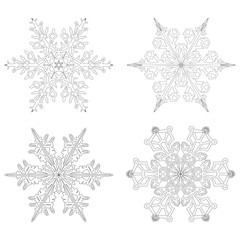 Eiskristalle, Flocken, Symbole, Form, Weihnachten