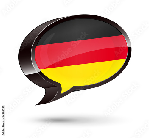 """German-Speaking"" 3D Speech Bubble"