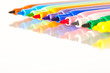 Colourful drawing pens background