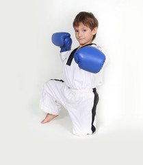 young boy boxer studio shot