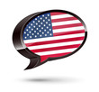 """American-Speaking"" 3D Speech Bubble"