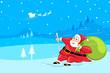Santa sking in snow