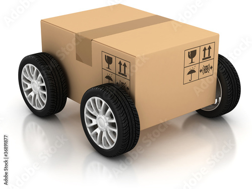 delivery, moving, shipping, transport 3d concept