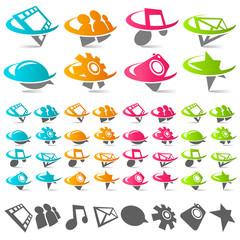 Swoosh Media Icons